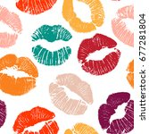 vector seamless pattern with... | Shutterstock .eps vector #677281804