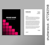 pink rectangular abstract... | Shutterstock .eps vector #677282548