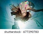 Underwater Portrait Of Female...