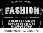 font. alphabet. script.... | Shutterstock .eps vector #677302270
