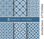 a pack of vintage pattern... | Shutterstock .eps vector #677314066