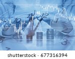 investment protection concept ... | Shutterstock . vector #677316394