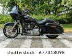 Black Harley Davidson Glide...