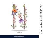floral watercolor alphabet....