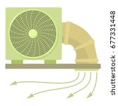 system fan and pipe icon.... | Shutterstock .eps vector #677331448