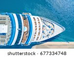 nose of the cruise ship near... | Shutterstock . vector #677334748