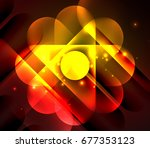 vector glowing geometric shapes ... | Shutterstock .eps vector #677353123