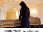 people and mourning concept  ...   Shutterstock . vector #677360263