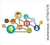 social media network. growth... | Shutterstock . vector #677367178