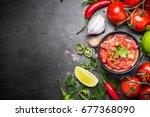 traditional latin american... | Shutterstock . vector #677368090