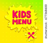 kids menu colorful banner... | Shutterstock .eps vector #677368600