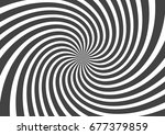 psychedelic spiral with radial... | Shutterstock .eps vector #677379859