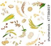 seamless pattern with gluten...   Shutterstock .eps vector #677386819