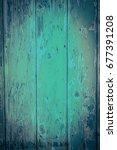 green  wooden  rustic background | Shutterstock . vector #677391208