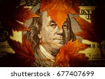conceptual image of hundred... | Shutterstock . vector #677407699