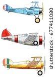 Vintage Airplanes. Design Set....
