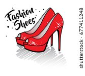 fashion shoes. isolated vector...   Shutterstock .eps vector #677411248