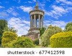 burns monument in alloway ayr... | Shutterstock . vector #677412598