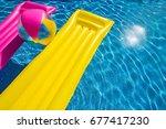 summer holiday background...   Shutterstock . vector #677417230