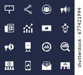 set of 16 commercial icons set... | Shutterstock .eps vector #677421994