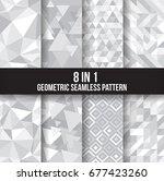 geometric seamless pattern... | Shutterstock .eps vector #677423260