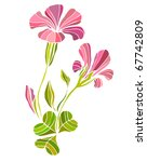 vector illustrated cute flower... | Shutterstock .eps vector #67742809