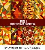 geometric seamless pattern... | Shutterstock .eps vector #677433388