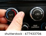 the controls for the air in a... | Shutterstock . vector #677433706