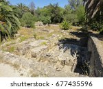carthage ancient city ruins in... | Shutterstock . vector #677435596