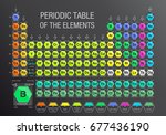 periodic table of the elements... | Shutterstock .eps vector #677436190