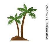 tropical palms icon | Shutterstock .eps vector #677439964