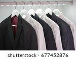 men's modern white shirts and... | Shutterstock . vector #677452876