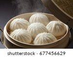 steamed bun | Shutterstock . vector #677456629