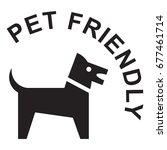 pet friendly sign  black...   Shutterstock .eps vector #677461714