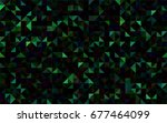 dark green vector blurry... | Shutterstock .eps vector #677464099