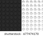 3d illustration. white concave... | Shutterstock . vector #677474170