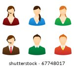 set icons people vector for... | Shutterstock .eps vector #67748017
