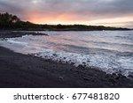Sunrise On A Black Sand Beach
