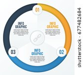 circle pie infographic number... | Shutterstock .eps vector #677482684