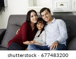 happiness times with family. ... | Shutterstock . vector #677483200