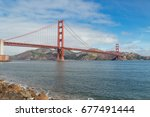 golden gate bridge in san... | Shutterstock . vector #677491444