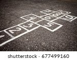 Hopscotch Court With Numbers...