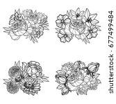 flower set | Shutterstock . vector #677499484