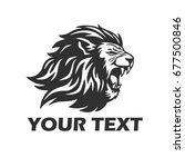 lion head roaring. mascot logo...   Shutterstock .eps vector #677500846