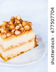 homemade cheesecake with...   Shutterstock . vector #677507704
