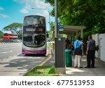 Singapore   Mar 12  2016. A Bus ...