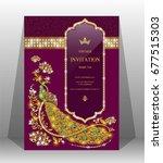 luxury wedding invitation card... | Shutterstock .eps vector #677515303