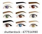 human eyes | Shutterstock .eps vector #677516980
