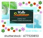 summer sale offer poster  flyer ...   Shutterstock .eps vector #677520853