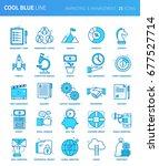 modern thin line icons set of... | Shutterstock .eps vector #677527714